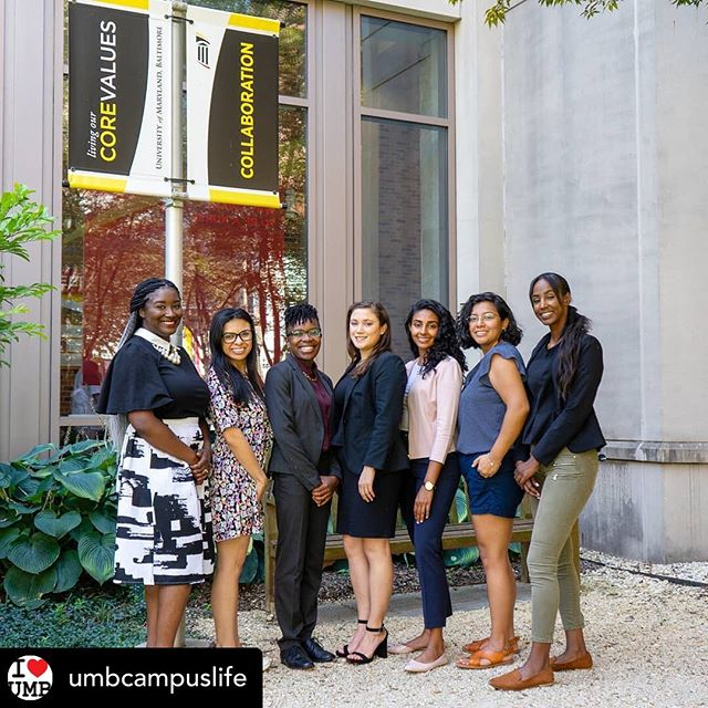 Repost from @umbcampuslife: Meet the 2019 – 2020 cohort of the President's Fellows! Representing all seven of UMB's schools, the fellows will spend a portion of their academic year exploring strategies and steps UMB should adopt to institutionalize its organizational culture and core values, so they remain durable even as the university continues to evolve. (From L to R) Adrienne Kambouris, @umb_gradschool and @ummedschool; Marina Gettas, @marylandnursing; Anicca Harriot, @ummedschool; Nina Marks, @marylandcareylaw; Meghna Bhatt, @umsop; Jenny Torres, @mdsocialwork; and Jamaad Abdi, @umsod.The President's Fellows are part of the President's Symposium and White Paper Project, a joint initiative of the President's Office and the Office of Interprofessional Student Learning & Service Initiatives (ISLSI) in Campus Life Services. The first President's Symposium will be held on Wednesday, September 11 from 4 – 5:30 p.m. in the SMC Campus Center, Elm Room B.